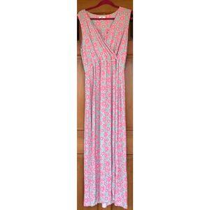 Vineyard Vines Floral Sleeveless Maxi Dress XL